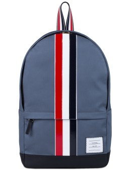 THOM BROWNE Mackintosh Backpack with RWB Leather Stripe Picture