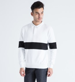 AMH White/Black Collar Sweater Picture