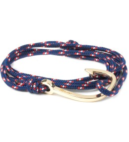 Miansai Navy Blue Gold Plated Hook on Rope Bracelet Picture
