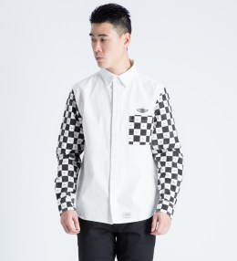 FUCT SSDD White/Black Checker Flag L/S Shirt Picture