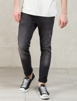 Nudie Jeans Black Black Brutus Thin Finn Jeans Picture
