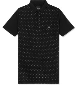 Barney Cools Black Polka Polo Shirt Picture