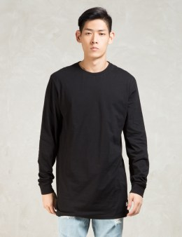 STAMPD Black L/S Elongated T-Shirt Picture