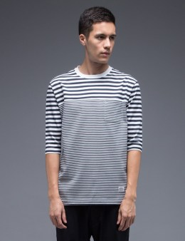 SILAS Switching Border Half Sleeve T-Shirt Picture