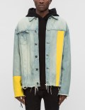C2H4 Los Angeles Yellow Sleeve Denim Jacket Picutre