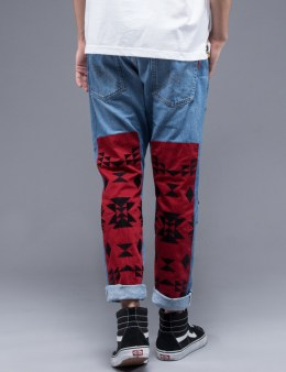 WHIZ Folk Patch Slim Denim Pants Picture