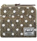 Herschel Supply Co. White Polka Dot Johnny Harris Tweed Wallet Picutre