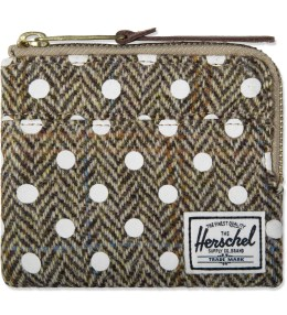 Herschel Supply Co. White Polka Dot Johnny Harris Tweed Wallet Picture