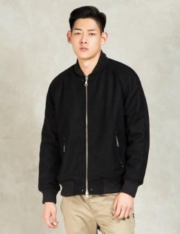 MKI Black Black MKI Black Raglan Varsity Jacket Picture