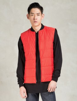 Christopher RAEBURN Red Quilted Gilet Picture