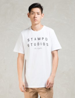 STAMPD White S/S Stampd Logo T-Shirt Picture