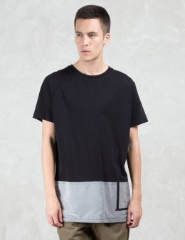 LETASCA Silver Color Blocking S/S T-Shirt Picture