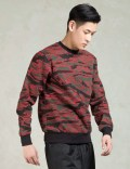 Black Scale Red Camo Crewneck Sweatshirt Picutre
