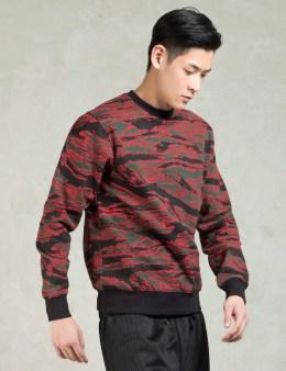 Black Scale Red Camo Crewneck Sweatshirt Picture