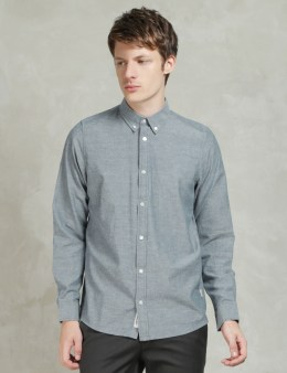 Carhartt WORK IN PROGRESS Blue Stone Washed L/S Kyoto Shirt Picture