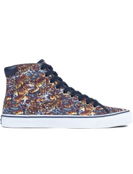 KENZO Vulcano Flying Tiger Canvas Sneakers Picture