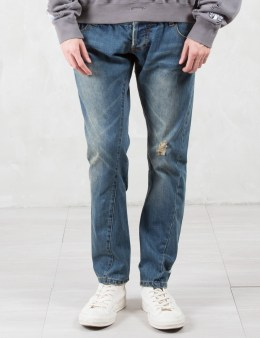C2H4 Los Angeles Double Waist Heavy Wash Jeans Picture
