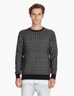 ZANEROBE Black/grey Hash Crew Knit Picture