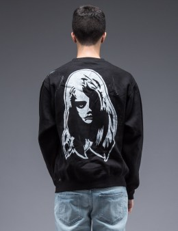 SAM by Warren Lotas Black Crewneck Sweatshirt Style A (Size S) Picture
