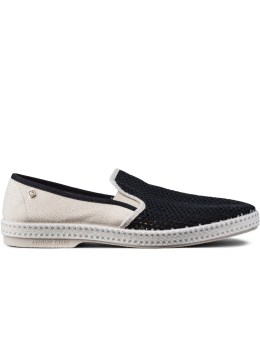 Rivieras White/Black Nervous Wreck Loafer Picture