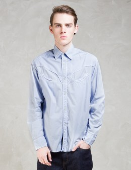 Hombre Nino Blue Western Shirt Picture