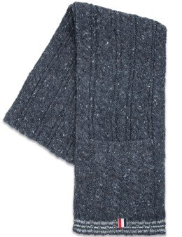 THOM BROWNE Aran Tweed Cable Funmix Pocket Scarf Picture