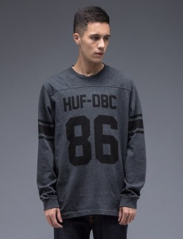HUF Charcoal Heather HUF Wrecking Crew L/S Football Jersey Picture