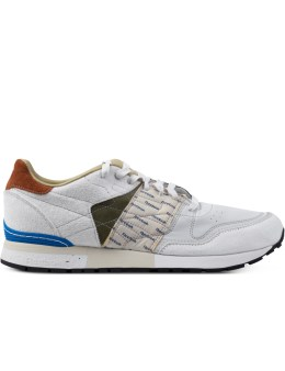Reebok GARBSTORE x Reebok White/Moss Green/Blue Classic Leather 6000 Sneakers Picture