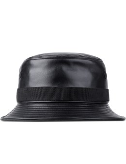 STAMPD Black Leather Ashes Bucket Hat Picture