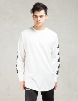 Black Scale White Noir L/s T-shirt Picture