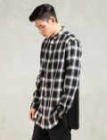 LIFUL Black Ombre Check Long Shirt Picture