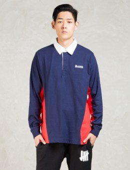 UNDEFEATED Navy Rugby Shirt L/sl Picture