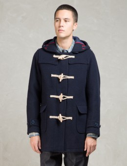 Head Porter Plus Navy Duffle Coat Picture