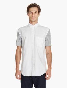 ZANEROBE White/grey Box 7ft S/s Shirt Picture