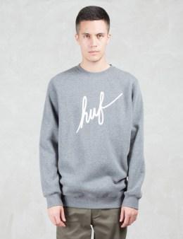 HUF Demi Script Sweatshirt Picture