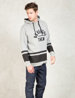 Us Versus Them Grey Portsmouth Hoodie Picture