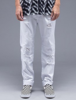 STAMPD White Distressed Panel Denim Picture