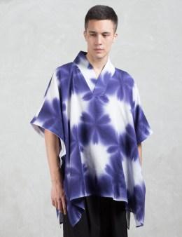 SASQUATCHFABRIX. Japanease Dye Poncho Picture