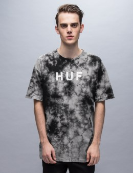 HUF Bleach Wash Original Logo S/S T-Shirt Picture