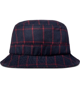 PUBLISH Navy Callaway Plaid Fisherman Bucket Hat Picture