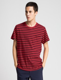 HUF Red/Black Charter Stripe S/S T-Shirt Picture