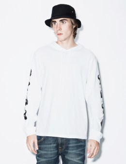 P.A.M. White Anubian L/S Hooded T-Shirt Picture