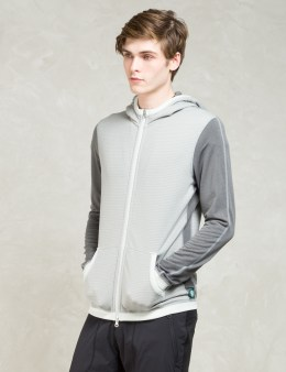 REIGNING CHAMP Grey Hwt Powerdry/lwt Powerdry Fz Hoodie Picture