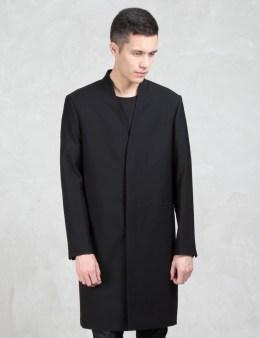 LAD MUSICIAN Wool Gabardine Long Coat Picture