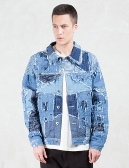 C2H4 Los Angeles Distressed Denim Jacket Picture