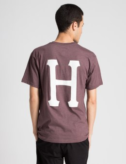 HUF Wine Heather Classic H Pocket T-Shirt Picture