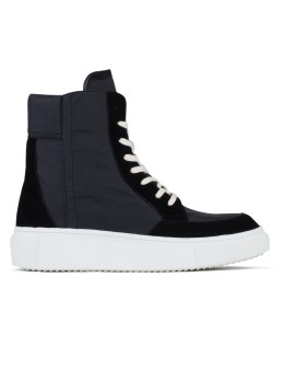 D BY D Coated Fabric High Top Sneakers Picture