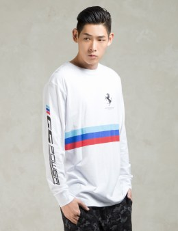 GRAND SCHEME White Gs Racer L/S Tee Picture