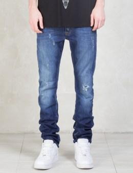 MARCELO BURLON Vintage Wash Slim Fit Denim Jeans Picture