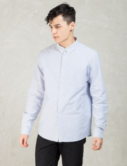 A.P.C. Blue Striped Button-down Shirt Picture